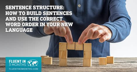 sentence structure   build sentences