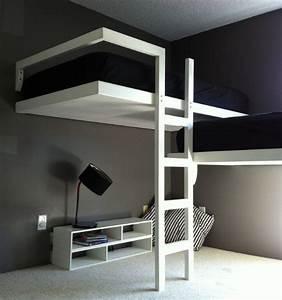 Lit 2 Places Moderne : lit moderne superpos 50 id es pour vous inspirer ~ Teatrodelosmanantiales.com Idées de Décoration