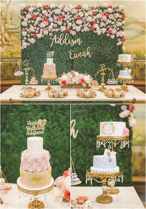 addisons floral garden  birthday party baby