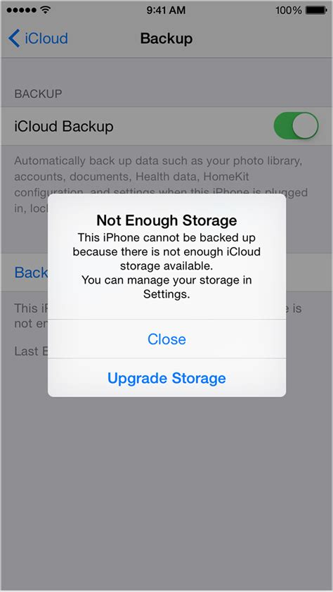 no storage on iphone get help backing up your device in icloud apple support