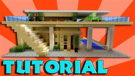 minecraft   build  big modern house tutorial easy stylish compact minecraft house