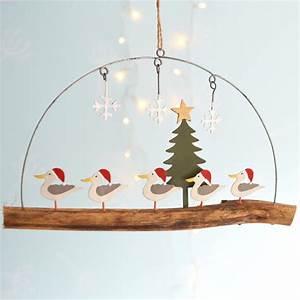 Seagulls On Driftwood Christmas Decoration - CoastalHome