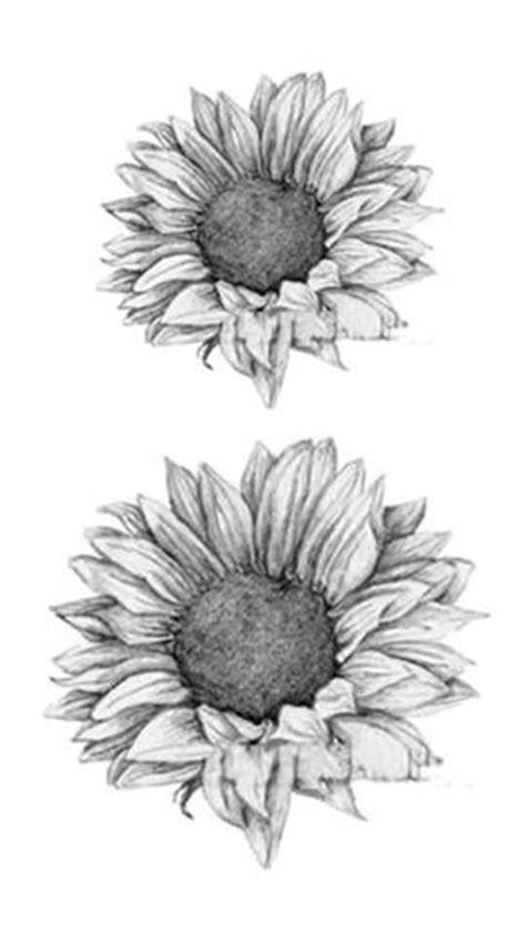 Grace Realistic Black & White Sunflower Temporary Tattoo   tattoos   Flower tattoos, Sunflower