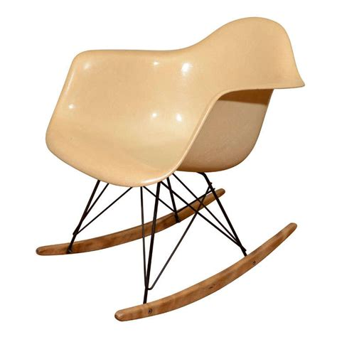 early herman miller fiberglass and wire eames rocking