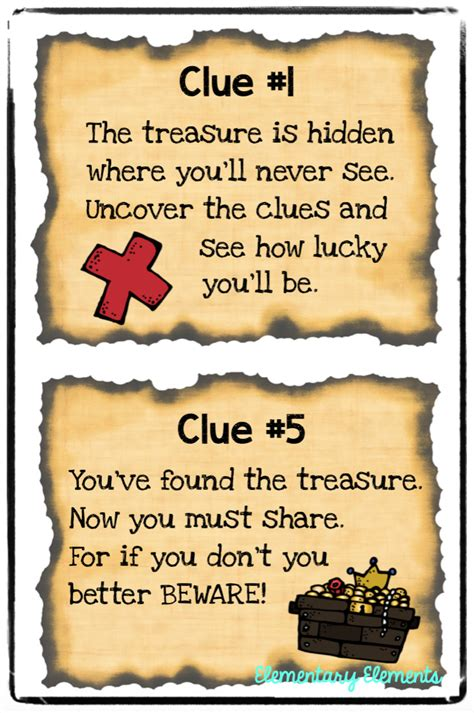 treasure hunt for elementary elements