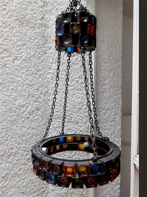 mexican chandeliers mexican modernist handblown glass chandelier by feders