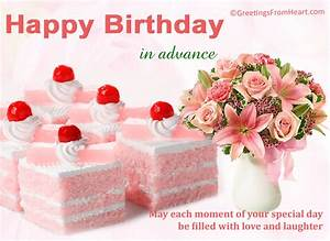 Advance happy birthday wishes ecards