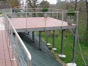 Terrasse Metallique Suspendue : terrasse bois suspendue sur pilotis et balcons bois angers artisan construction menuisier ~ Dallasstarsshop.com Idées de Décoration