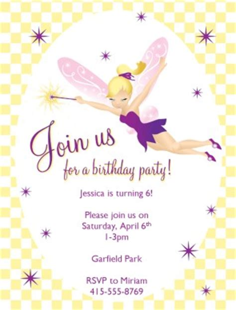 printable fairy birthday invitations template