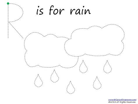 free rainy day prek pack 102 | RainTracerPg