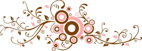pink  brown flourish clip art  clkercom vector