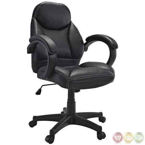 commander contemporary modern mid back ergonomic executive