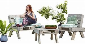 Canapé Jardin Bois : canap de jardin en palette en bois ~ Teatrodelosmanantiales.com Idées de Décoration