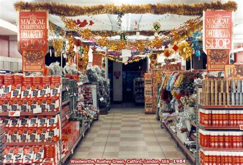 xmas decorations at f w woolworth