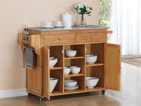 meuble de cuisine ind endant grande desserte à roulettes delcia 2 portes 2 tiroirs