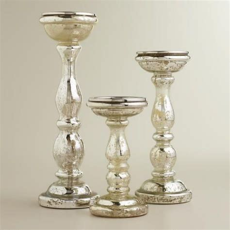 mercury glass table ls cheap amalie silver mercury glass pillar candle holders