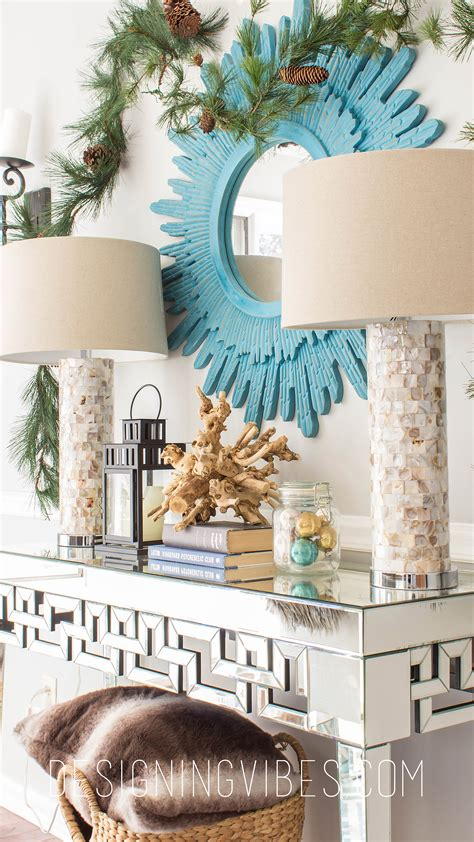 rustic glam christmas decor home  part