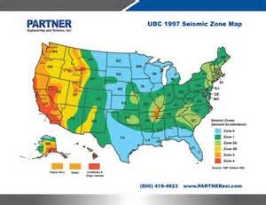 1997 UBC Seismic Zone Map