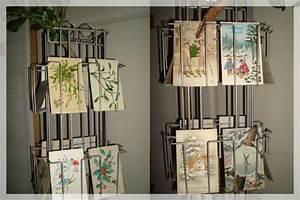 Porte Carte Postale Mural : un tourniquet de voeux le bazar de sophie picoteuse ~ Teatrodelosmanantiales.com Idées de Décoration