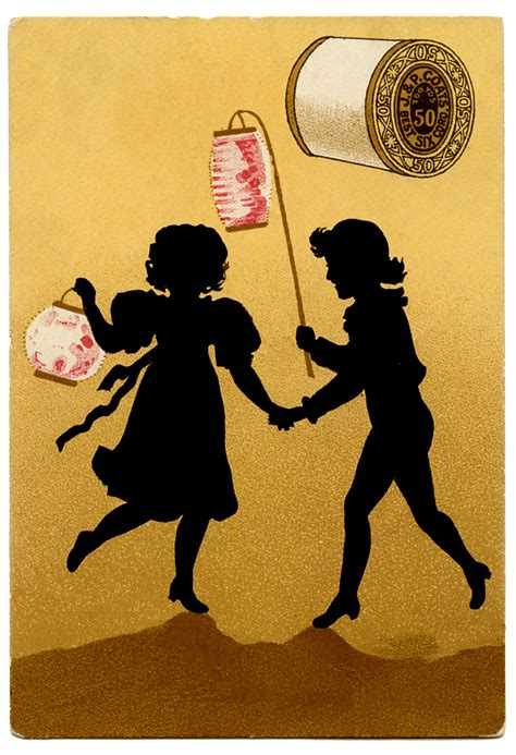 vintage sewing clip art silhouettes thread