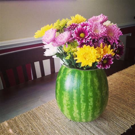 You Place The Flowers In The Vase by How To Carve A Watermelon Vase What About Watermelon