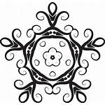 Flower Clipart Symmetry Drawing Line Graphics Floral