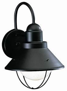 kichler 1 light outdoor fixture black exterior beach With kichler lighting 9735bk street outdoor sconce black