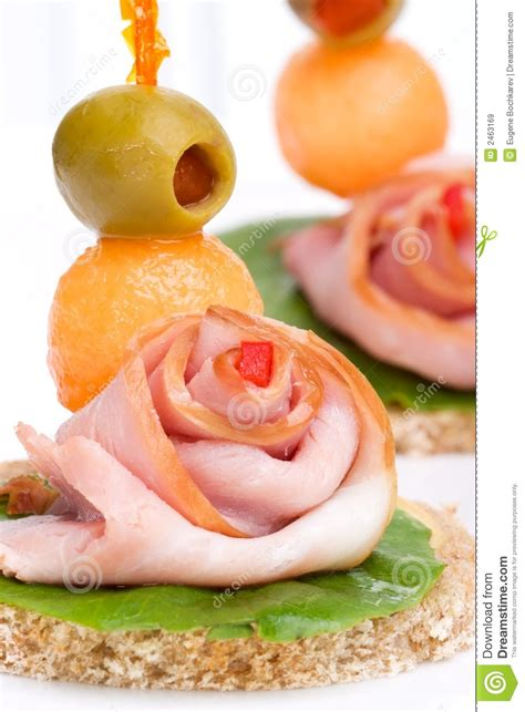 ham canapes ham canapes royalty free stock images image 2463169