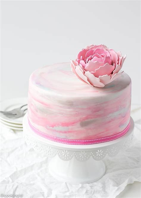 water color cake watercolor fondant cake cooking lsl