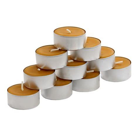 teelichter 100 stück bienenwachs teelichter mit 100 nat 252 rlichem