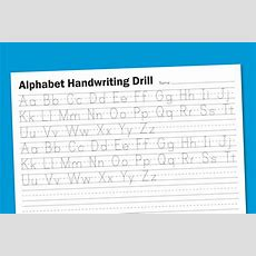 Alphabet Handwriting Drill  Paging Supermom