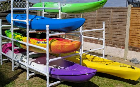 how to make a kayak rack sit on top kayak storage sitons
