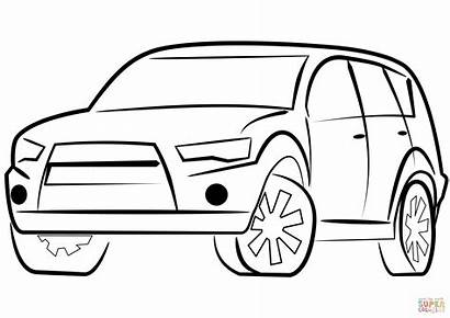 Coloring Suv Pages Printable Drawing Paper