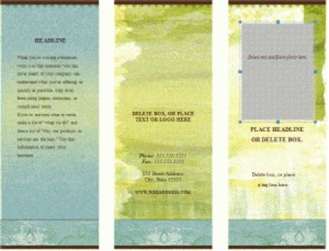 word brochure templates  publisher