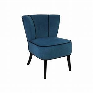 Fauteuil Bleu Pétrole : fauteuil crapaud bleu p trole aspect velours so skin ~ Teatrodelosmanantiales.com Idées de Décoration