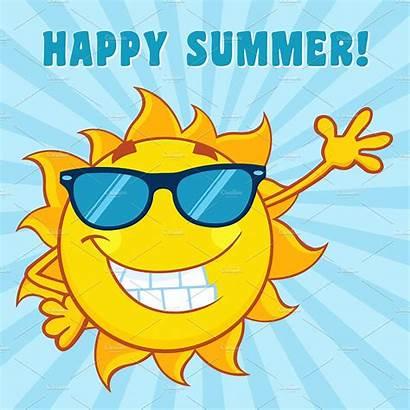 Summer Sun Cartoon Happy Background Illustration Text