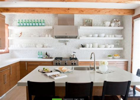 cuisine parfaite cuisine blanche et bois le mariage parfait pour une