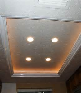 recessed lighting ideas for kitchen another tray ceiling recessed lighting idea to replace the fluorescent kitchen lights remodel