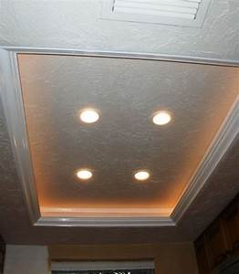 Another tray ceiling recessed lighting idea to replace the