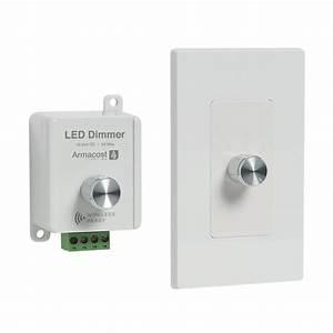 Armacost lighting in white led dimmer dim w v