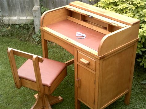 childs roll top desk child 39 s roll top desk with swivel chair antiques atlas