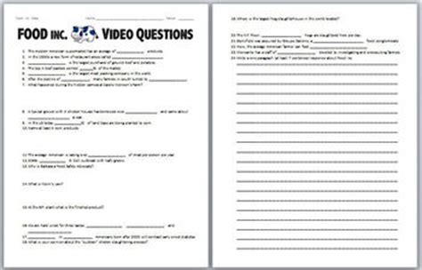 food  video worksheet  biology zoology forensic