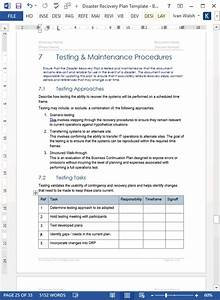 backup and recovery test plan template templates With disaster recovery testing template