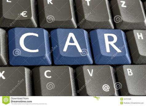 Word Car Written On Keyboard Royalty Free Stock Images
