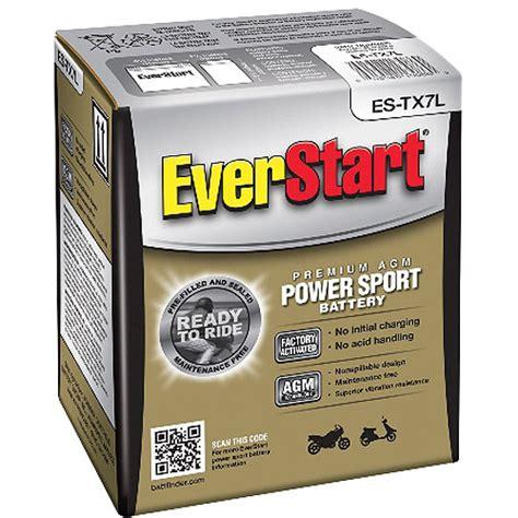 Everstart Powersport Battery Group Size Es Tx7l