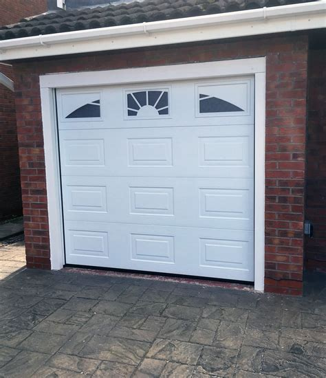 sectional garage doors  cheshire supplied fitted