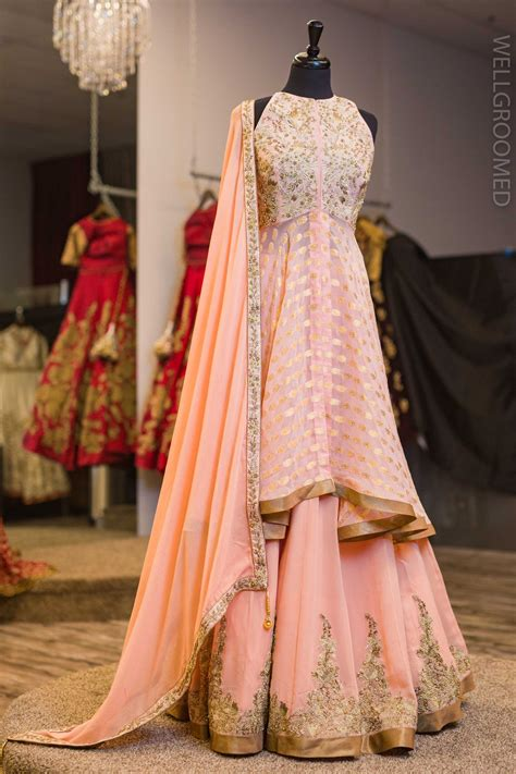 blush pink goergette lacha indian outfits indian