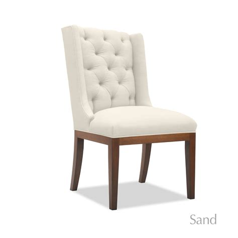 nadina tufted linen dining chair