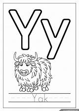 Coloring Alphabet Letters Yak Letter Bubble Englishforkidz Pdf Letterwriting sketch template