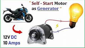 12v 15a Dc Motor Starter As 10 Amp High Current Electric Generator - Bike Starter Motor